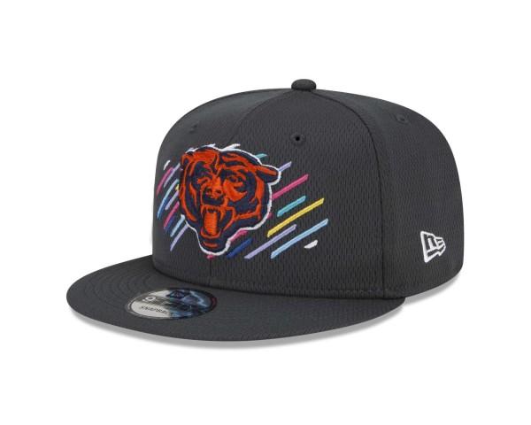 New Era - NFL Chicago Bears 2021 Crucial Catch 9Fifty Snapback Cap - Grau Ansicht vorne schräg links