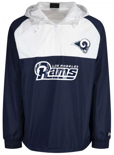 New Era - NFL Los Angeles Rams Colour Block Windbreaker Jacke - Blau-Weiß Vorderansicht