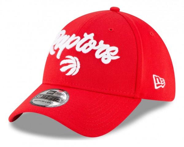 New Era - NBA Toronto Raptors 2020 Draft Edition Alternative 39Thirty Stretch Cap - Rot Ansicht vorne schräg links