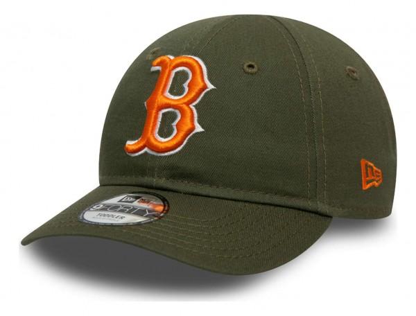 New Era - MLB Boston Red Sox League Essential 9Forty Toddler Strapback Cap - Schwarz Ansicht vorne schräg links