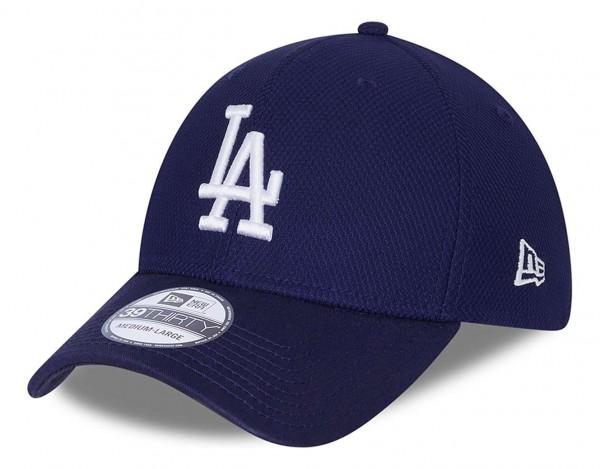 New Era - MLB Los Angeles Dodgers Diamond Era 39Thirty Stretch Cap - Blau Ansicht vorne schräg links