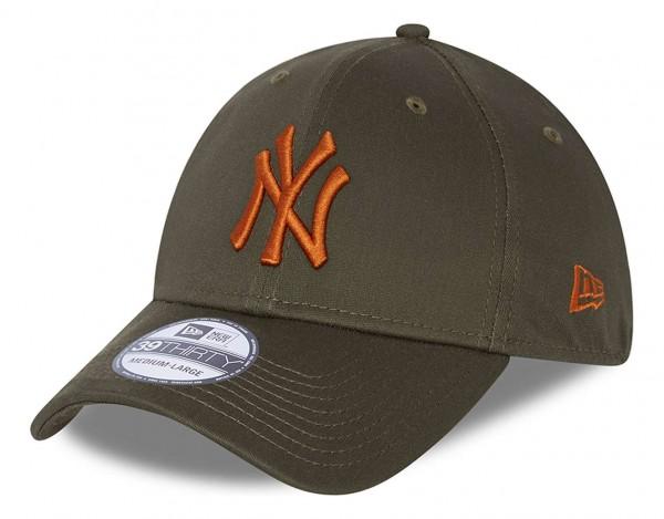 New Era - MLB New York Yankees League Essential 39Thirty Stretch Cap - Grün Ansicht vorne schräg links