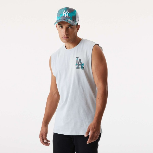 New Era - MLB Los Angeles Dodgers Infill Team Logo Sleeveless T-Shirt - Grau Vorderansicht