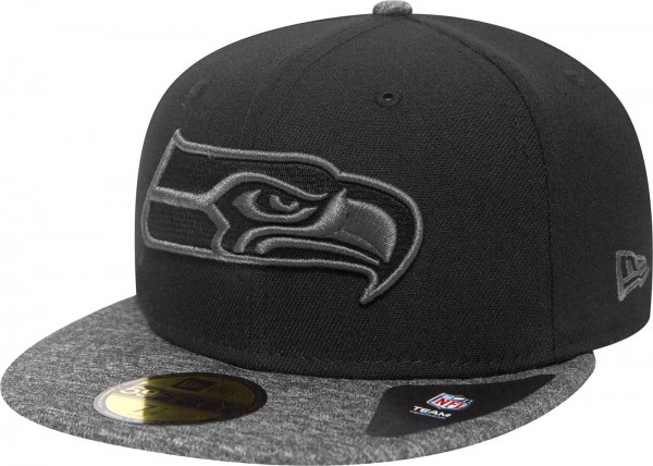 New Era - NFL Seattle Seahawks Grey Collection 59Fifty Cap - black-grey