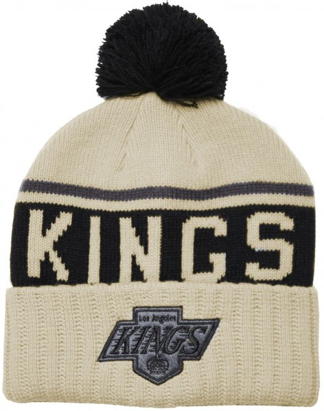 Mitchell & Ness - NHL Los Angeles Kings Drifted Bobble Cuff Beanie