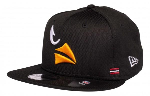New Era - NFL Arizona Cardinals OnField 2020 Sideline Home 9Fifty Snapback Cap - Schwarz Ansicht vorne schräg links