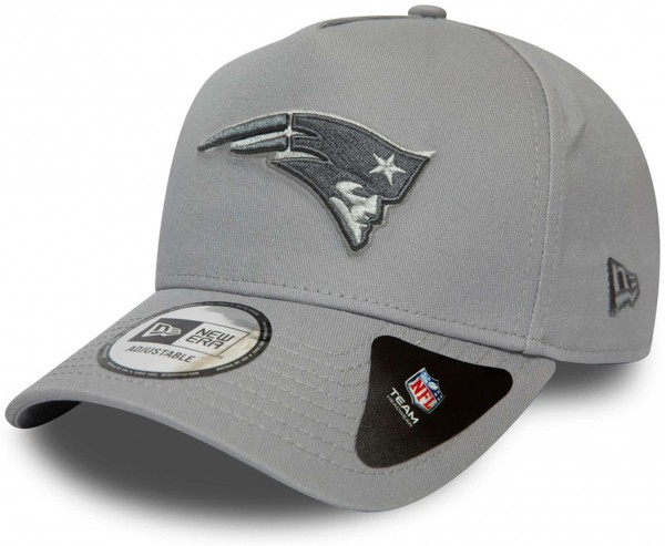 New Era - NFL New England Patriots A-Frame Closed Back Snapback Cap - Grau Ansicht vorne links