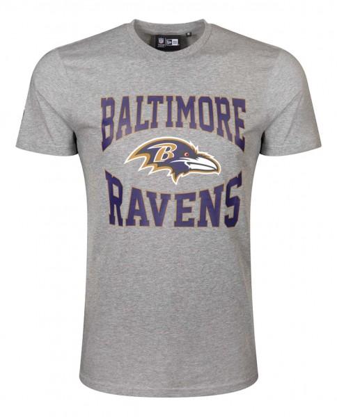 New Era - NFL Baltimore Ravens Team Logo T-Shirt - Grau Vorderansicht