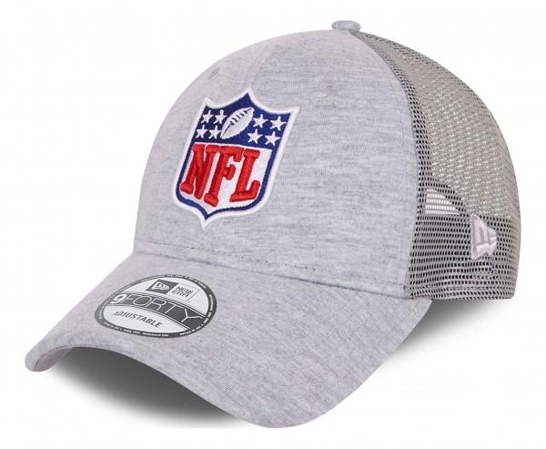 New Era - NFL Shield Home Field Logo 9Forty Trucker Snapback Cap - Grau Ansicht vorne schräg links