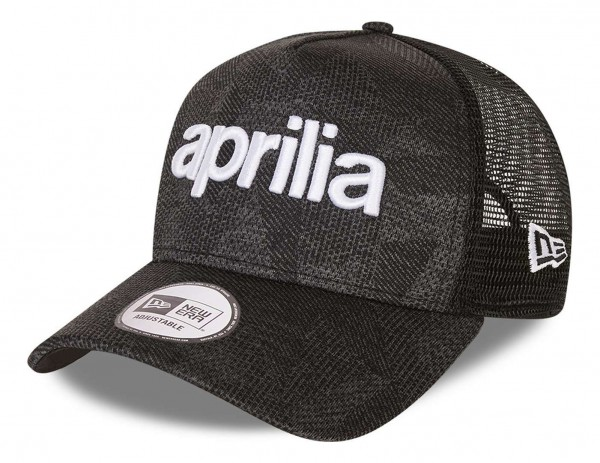 New Era - Aprilia Engineered Fit 2 Wordmark 9Forty Strapback Cap - Grau Ansicht vorne schräg links