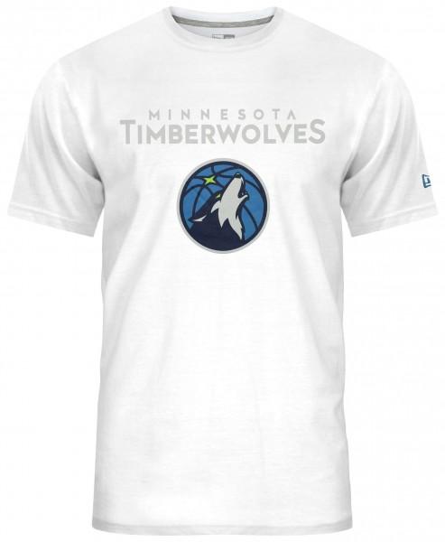 New Era - NBA Minnesota Timberwolves Team Logo T-Shirt - Weiß Vorderansicht