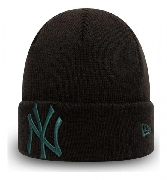 New Era - MLB New York Yankees Pop Base Knit Baby Cuff Beanie - Schwarz Ansicht vorne schräg links