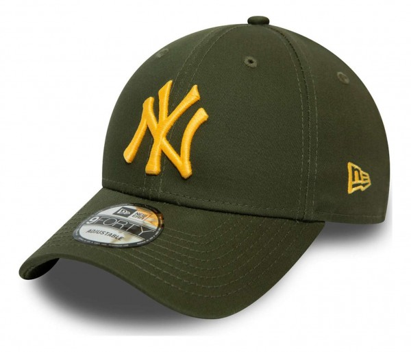 New Era - MLB New York Yankees Colour Essential 9Forty Strapback Cap - Grün Ansicht vorne schräg links