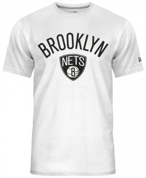 New Era - NBA Brooklyn Nets Team Logo T-Shirt - Weiß Vorderansicht