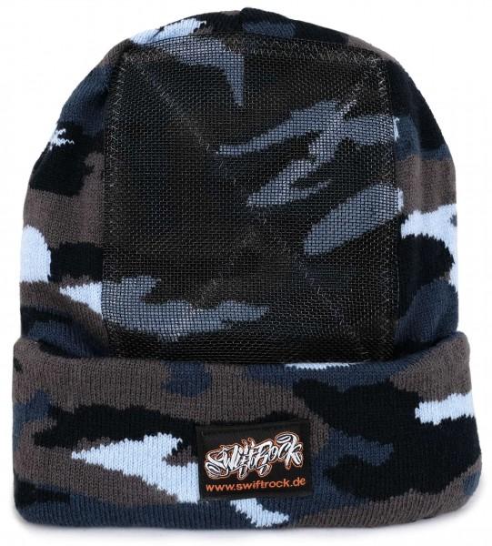 SR Rocking Gear - Swift Rock Camouflage Headspin Beanie - Blau