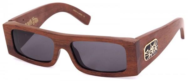 Black Flys - Fly Detector Wood - Sonnenbrille - Braun