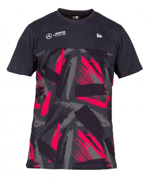 New Era - Mercedes E-Sports Camo T-Shirt - Grau Vorderansicht