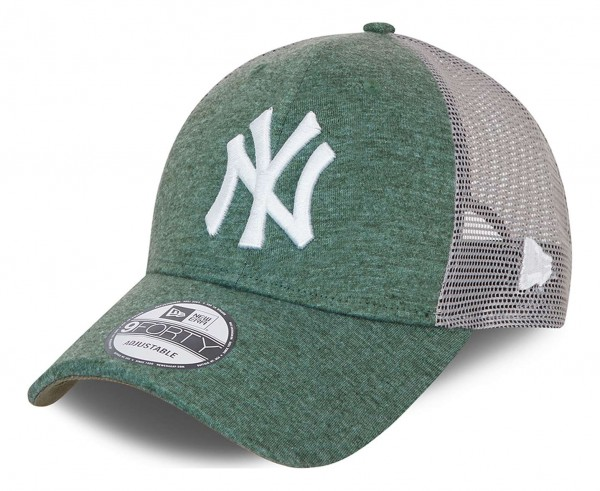 New Era - MLB New York Yankees Home Field Logo 9Forty Trucker Snapback Cap - Grün Ansicht vorne schräg links