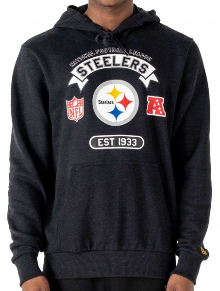 New Era - NFL Pittsburgh Steelers Graphic PO Hoodie - Grau Vorderansicht