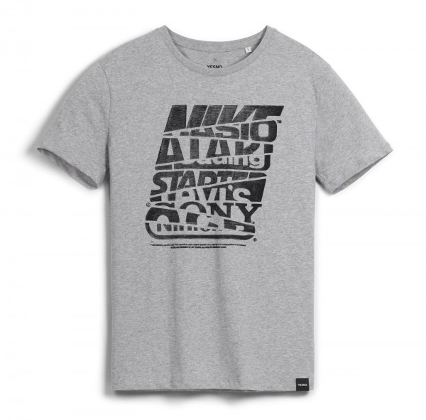 YESNO - Brands of my youth T-Shirt - Grau