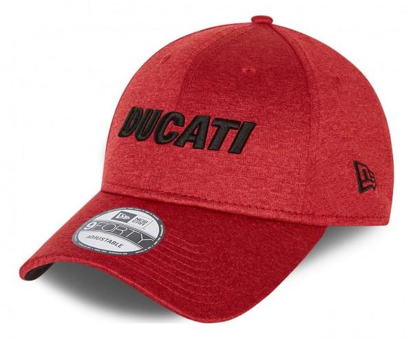New Era - Ducati Shadow Tech 9Forty Strapback Cap - Rot Ansicht vorne schräg links