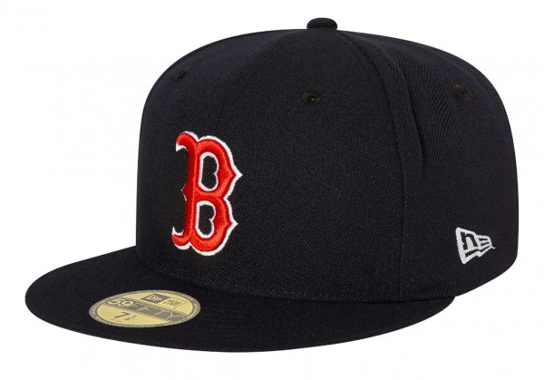 New Era - MLB Boston Red Sox Authentic Collection EMEA 59Fifty Fitted Cap - Blau Ansicht vorne schräg links