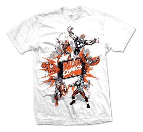 Bravado - Marvel Comics Montage 2 T-Shirt - Weiß Vorderansicht