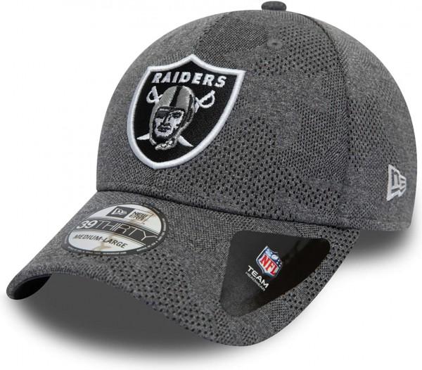 New Era - NFL Oakland Raiders Engineered Plus 39Thirty Stretch Cap - Grau Ansicht schräg links