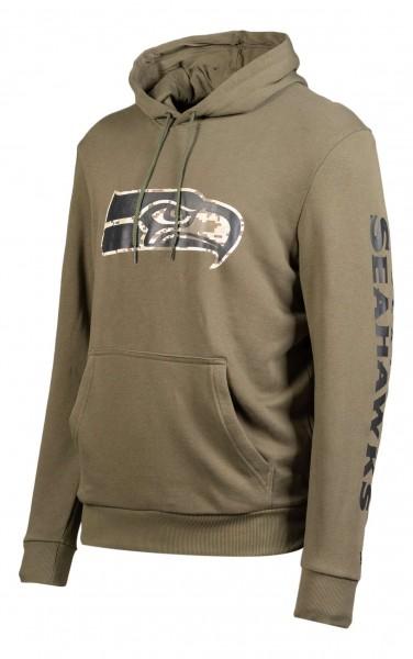 New Era - NFL Seattle Seahawks Digi Camo PO Hoodie - Camouflage Ansicht vorne schräg links