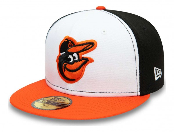 New Era - MLB Baltimore Orioles Authentic Collection EMEA 59Fifty Fitted Cap - Mehrfarbig Ansicht vorne schräg rechts