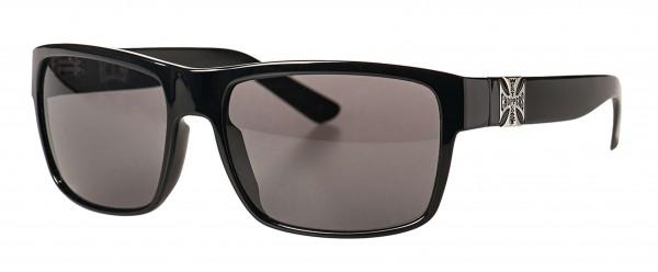 West Coast Choppers - WCC WTF Glasses Sonnenbrille - Schwarz Ansicht schräg von vorne