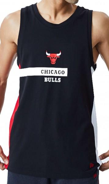 New Era - NBA Chicago Bulls Block Wordmark Tank Top - Schwarz Vorderansicht