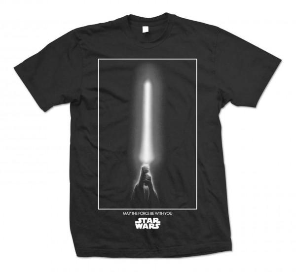 Bravado - Star Wars The Force T-Shirt - Schwarz Vorderansicht