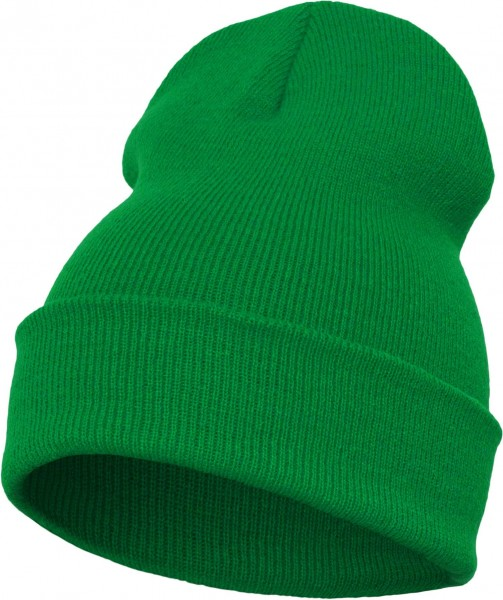 Yupoong - Heavyweight Knit Cuffed Long Beanie - Kelly Grün