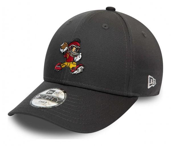 New Era - Disney Mickey Mouse Character Sports 9Forty Kids Strapback Cap - Grau Ansicht vorne schräg links