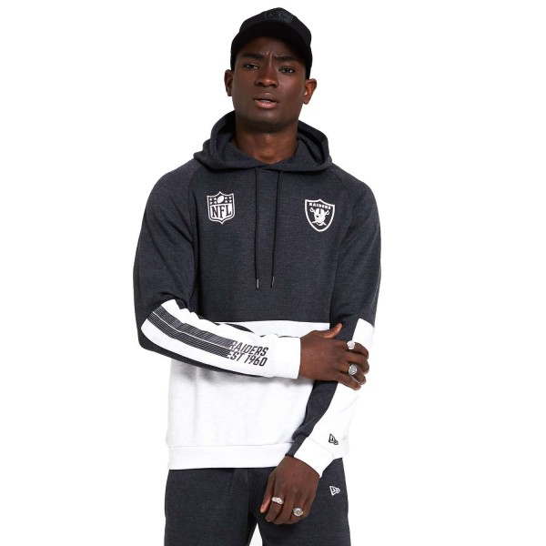 New Era - NFL Las Vegas Raiders Colour Block Hoodie - Grau Vorderansicht