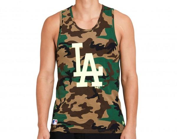 New Era - MLB Los Angeles Dodgers Camo Tank Top - Camouflage Vorderansicht