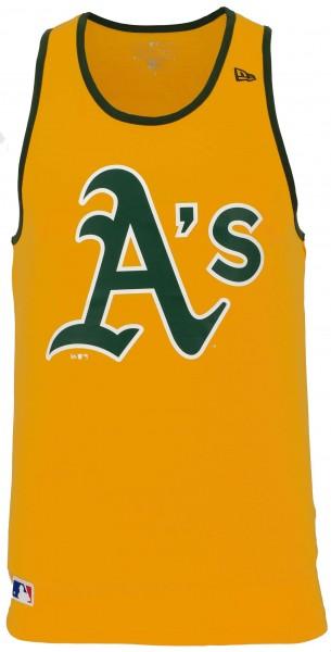 New Era - MLB Oakland Athletics Team Apparel Tank Top - Gelb Vorderansicht