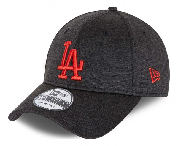 New Era - MLB Los Angeles Dodgers Shadow Tech 9Forty Strapback Cap - Grau Ansicht vorne schräg links