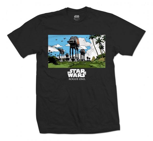 Bravado - Star Wars Rogue One AT-AT March T-Shirt - Schwarz Vorderansicht