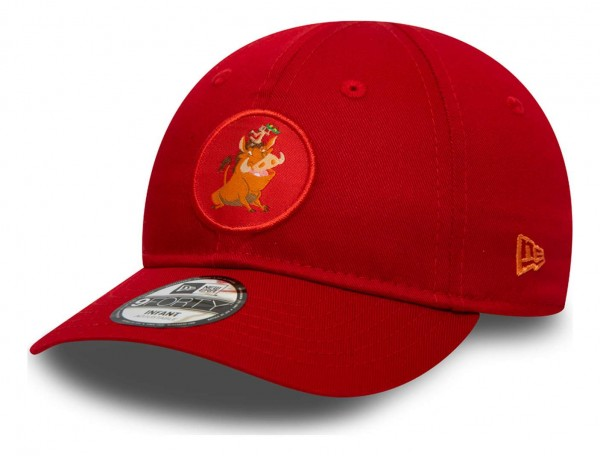 New Era - Disney Pumbaa Character Logo 9Forty Baby Strapback Cap - Lila Ansicht vorne schräg links