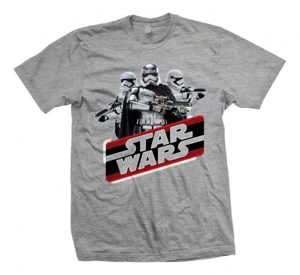 Bravado - Star Wars Episode 7 Phasma T-Shirt - Grau Vorderansicht
