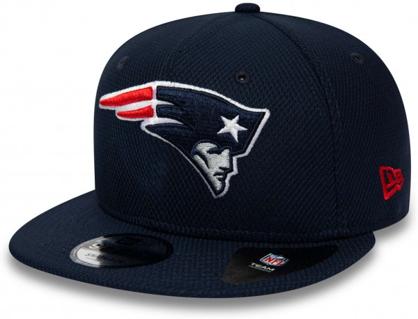 New Era - NFL New England Patriots Diamond Era Essential 9Fifty Snapback Cap - Blau Ansicht vorne links