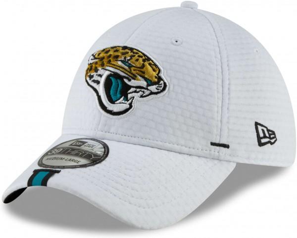 New Era - NFL Jacksonville Jaguars On Field 2019 Training 39Thirty Cap - Weiß Ansicht vorne links