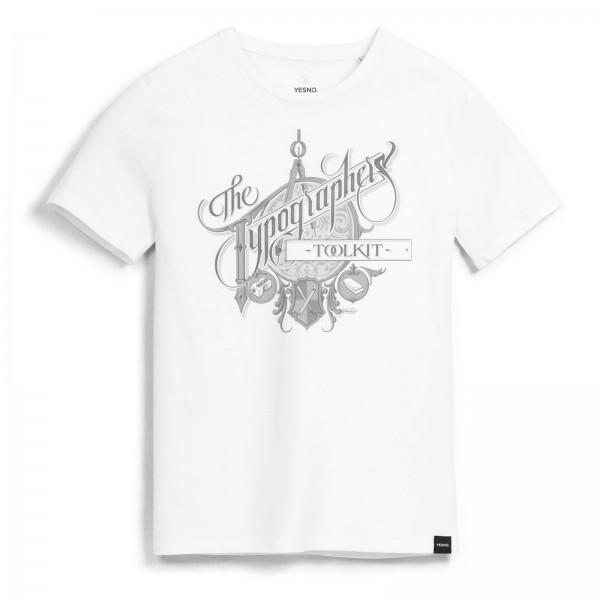 YESNO - Martin Schmetzer Thypographers Toolkit T-Shirt - Weiß