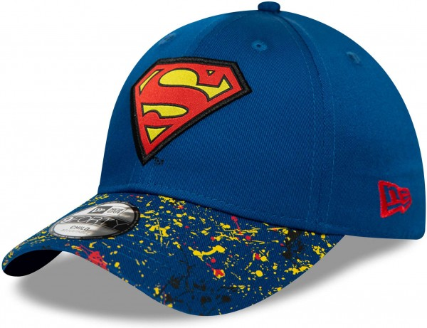 New Era - DC Comics Superman Kids 9Forty Snapback Cap - Blau Ansicht vorne links