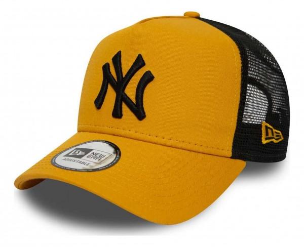 New Era - MLB New York Yankees League Essential Trucker A-Frame Snapback Cap - Gelb Ansicht vorne schräg rechts