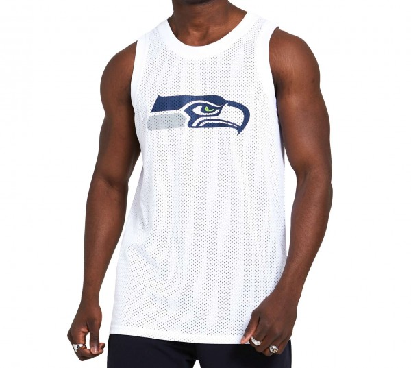 New Era - NFL Seattle Seahawks Logo Tank Top - Weiß Vorderansicht