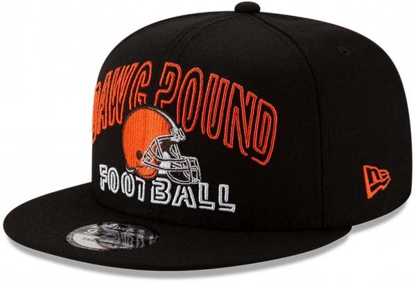 New Era - NFL Cleveland Browns 2020 Draft Alternative 9Fifty Snapback Cap - Schwarz Ansicht vorne schräg links