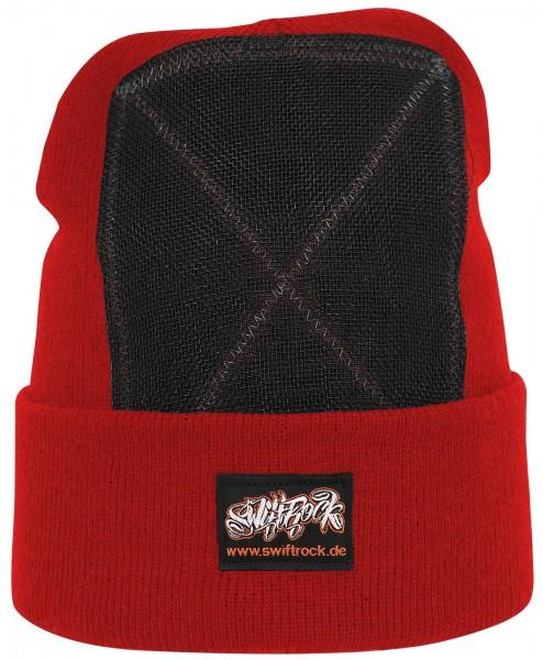 SR Rocking Gear - Swift Rock Classic Headspin Beanie - Rot